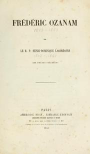 Cover of: Frédéric Ozanam