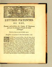 Cover of: Lettres patentes du roy