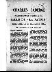 Cover of: Charles Laberge