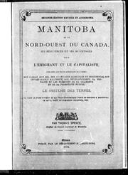 Cover of: Manitoba et le nord-ouest du Canada
