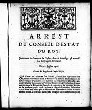 Cover of: Arrest du Conseil d'Estat du roy