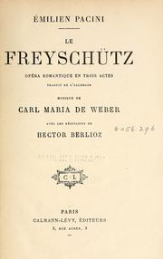 Cover of: Le freyschutz