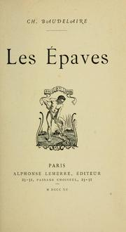 Cover of: Les Épaves