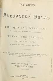 Cover of: The works of Alexandre Dumas