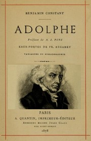 Cover of: Adolphe