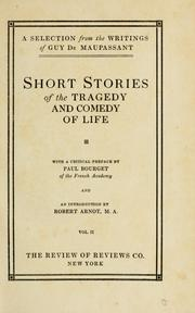 Cover of: Short stories of the tragedy and comedy of life