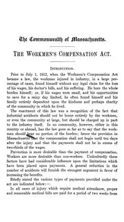 Cover of: Workmen's compensation act