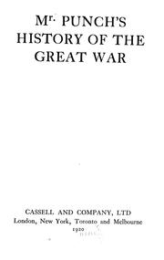Cover of: Mr. Punch's history of the great war.