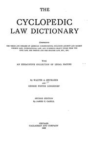 Cover of: The cyclopedic law dictionary