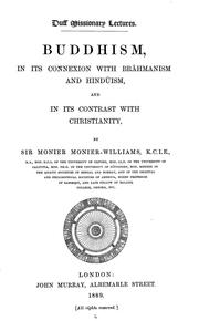 Cover of: Buddhism in its connexion with Brāhmanism and Hindūism