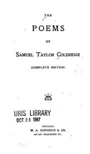 Cover of: The Poems of Samuel Taylor Coleridge
