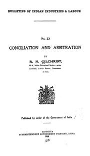 Cover of: Conciliation and arbitration