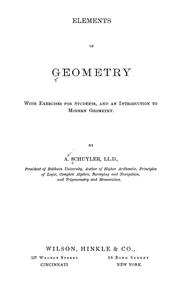 Cover of: Elements of geometry: with exercises for students and an introduction to modern geometry