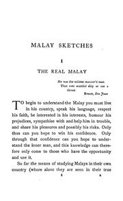 Cover of: Malay sketches