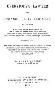 Cover of: Everybody's lawyer and counsellor in business