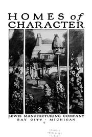 Cover of: Homes of character