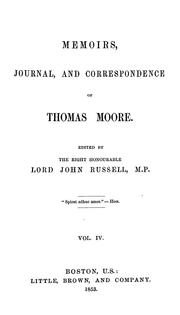 Cover of: Memoirs, journal, and correspondence