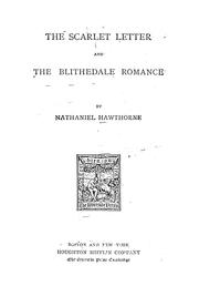 Cover of: The scarlet letter and the Blithedale romance