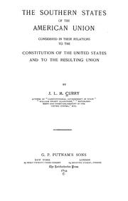 Cover of: The southern states of the American union