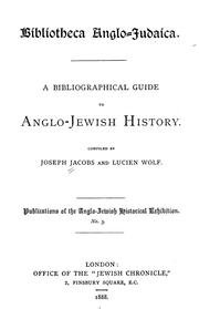 Cover of: Bibliotheca Anglo-Judaica: A bibliographical guide to Anglo-Jewish history