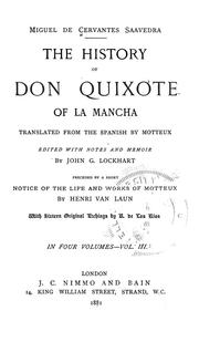 Cover of: The history of Don Quixote of La Mancha