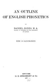 Cover of: An outline of English phonetics
