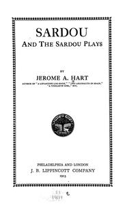 Cover of: Sardou and the Sardou plays