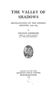 Cover of: The valley of shadows