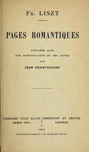 Cover of: Pages romantiques
