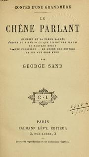 Cover of: Le chêne parlant