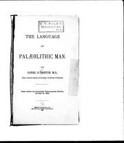 Cover of: The language of palaeolithic man