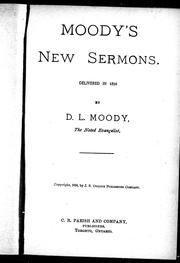 Cover of: Moody's new sermons