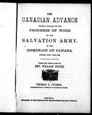 Cover of: The Canadian advance