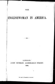 Cover of: The Englishwomen in America