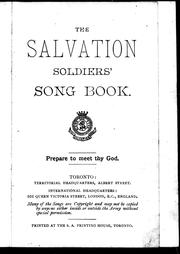 Cover of: The Salvation soldiers' song book