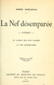 Cover of: La Nef désemparée