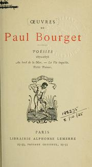Cover of: Poésies, 1872-1876
