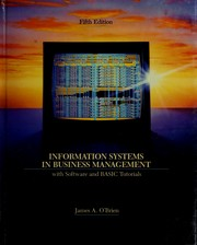 Cover of: Information systems in business management: with software and BASIC tutorials