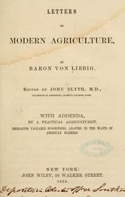 Cover of: Letters on modern agriculture