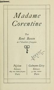 Cover of: Madame Corentine.