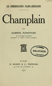 Cover of: Champlain