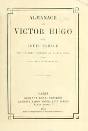 Cover of: Almanach de Victor Hugo