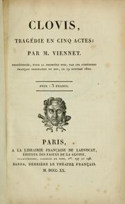 Cover of: Clovis, tragédie en cinq actes
