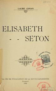 Cover of: Elisabeth Seton
