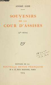 Cover of: Souvenirs de la Cour d'assises