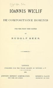 Cover of: De compositione hominis