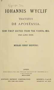 Cover of: Tractatus de apostasia
