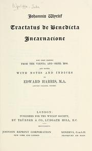 Cover of: Tractatus de benedicta incarnacione