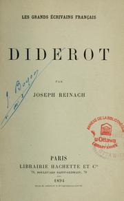 Cover of: Diderot