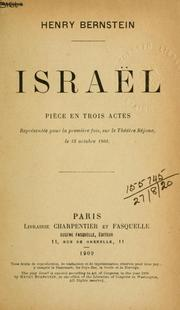 Cover of: Israël